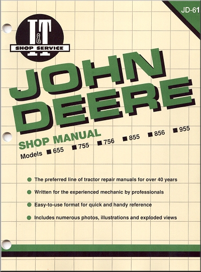 John Deere Tractor Repair Manual 655, 755, 756, 855, 856, 955