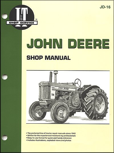 john deere tractor repair manual model 520 530 620 630 720 730 rh themotorbookstore com john deere 730 parts manual Printable John Deere Manuals