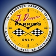 Jr Dragster Parking Wall Clock, LED Lighted: Racing Theme