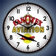KanOtex Avaition Wall Clock, LED Lighted: Airplane Theme
