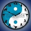 Karate  Wall Clock, LED Lighted: Sports