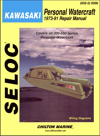 Kawasaki 300-650 PWC Repair Manual 1973-1991