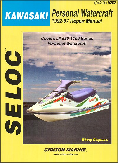 Kawasaki 550-1100 PWC Repair Manual 1992-1997