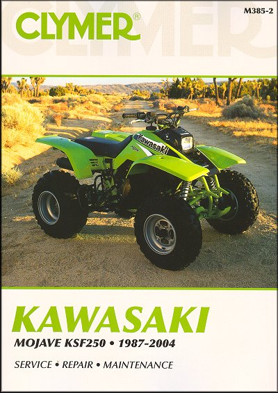 kawasaki ksf250 mojave atv repair manual 1987 2004 clymer rh themotorbookstore com kawasaki 650 atv service manual kawasaki 650 atv service manual