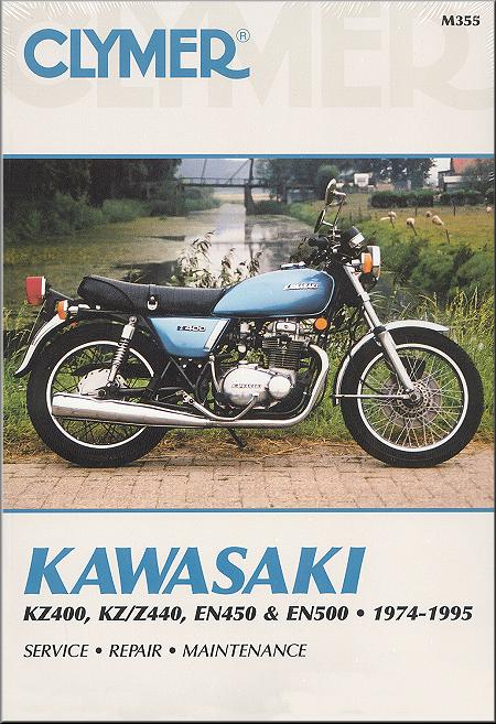 kawasaki kz400 z440 en450 500 repair manual 1974 1995 clymer rh themotorbookstore com kawasaki z400 manual download kawasaki kz 400 service manual