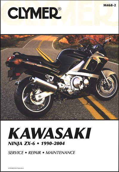 kawasaki ninja zx6 zx600 repair manual 1990 2004 rh themotorbookstore com kawasaki shop manual for a 2015 zx14r kawasaki bayou 300 shop manual