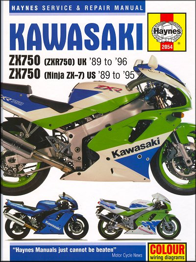 Kawasaki Ninja ZX7, ZX750, ZXR750 Repair Manual 1989-1996 on