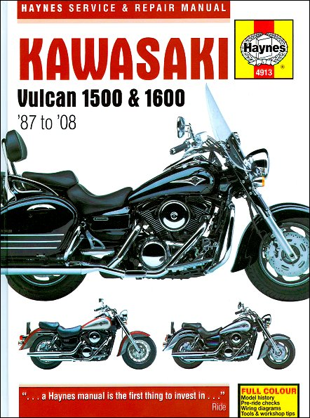 kawasaki vulcan 1500 vulcan 1600 repair manual 1987 2008 27 kawasaki vulcan 1500, 1600 repair manual 1987 2008 haynes 4913  at sewacar.co