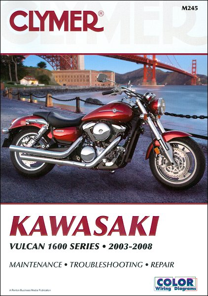 Kawasaki Vulcan 1600 Classic, Mean Streak, Nomad Repair Manual 2003-2008