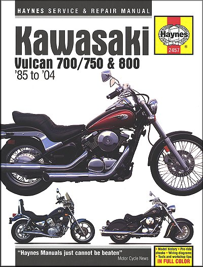 kawasaki vulcan 700 750 800 repair manual 1985 2004 25 kawasaki vulcan, classic, drifter repair manual 1985 2004 haynes Kawasaki Vulcan 800 Wiring Diagram at metegol.co