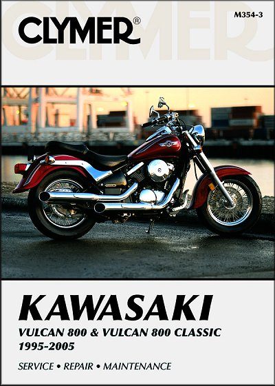 kawasaki vulcan vn800 classic repair manual 1995 2005 clymer rh themotorbookstore com 2005 kawasaki vulcan 800 owners manual 2004 kawasaki vulcan 800 owners manual