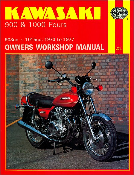 kawasaki z1, kz900, z900, kz1000, z1000 fours repair manual 1973-1977