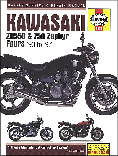 Kawasaki ZR550, ZR750 Zephyr Repair Manual 1990-1997