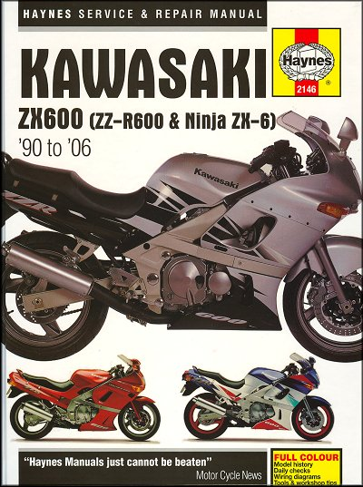 kawasaki zx600 zzr600 ninja zx6 repair manual 1990 2006 25 kawasaki ninja zx 6, zz r600 repair manual 1990 2006 haynes 2146 2002 Kawasaki Ninja ZX6 at crackthecode.co