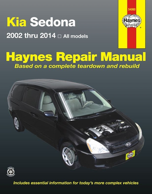 kia sedona service repair manual 2002 2014 haynes 54060 rh themotorbookstore com kia sedona manual kia sedona manual 2006