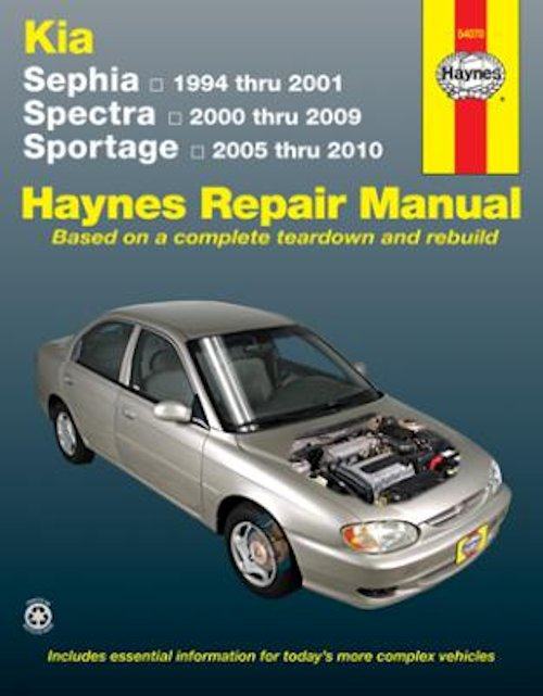 kia sephia spectra sportage repair manual 1994 2010 haynes rh themotorbookstore com 2000 Kia Sephia Repair Manual 2001 Kia Sportage Repair Manual