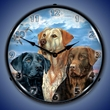 Labrador Retriever Wall Clock, LED Lighted