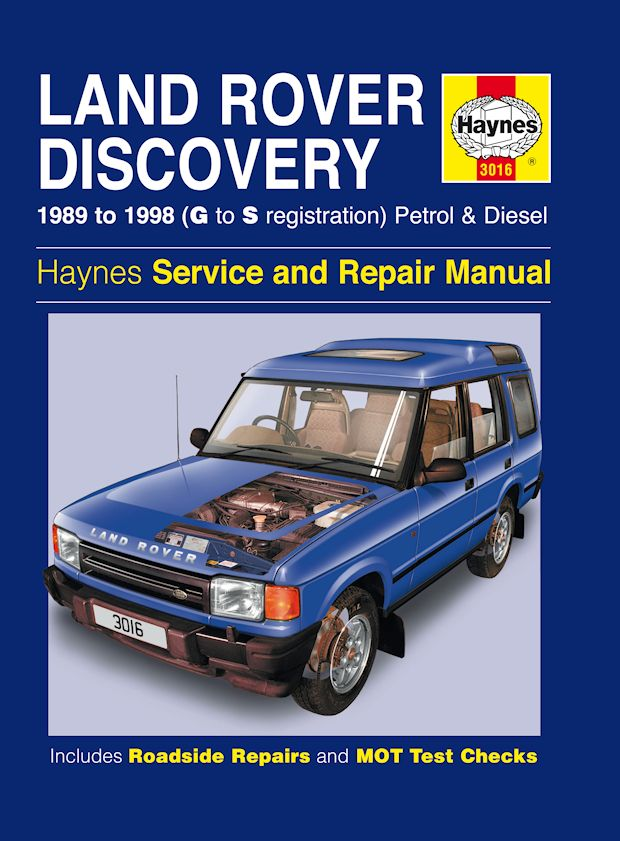 Land Rover Discovery Repair Manual on Haynes Land Rover Discovery Manual