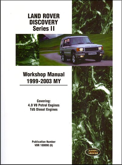 land rover discovery repair manual 1999 2003 part no vdr 100090 rh themotorbookstore com 1998 Land Rover Discovery Manual 2001 Land Rover Discovery Manual