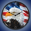 Let Freedom Ring Eagle Wall Clock, Lighted