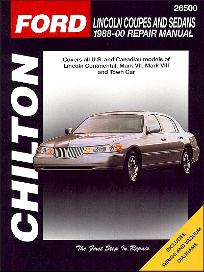 lincoln continental repair and service manual 1988-2000 by chilton