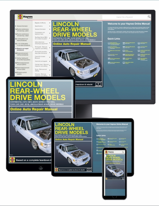 Lincoln Town Car Online Service Manual, 1970-2010