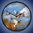 Mallards Wall Clock, LED Lighted