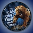 Mancave Time Wall Clock, Lighted