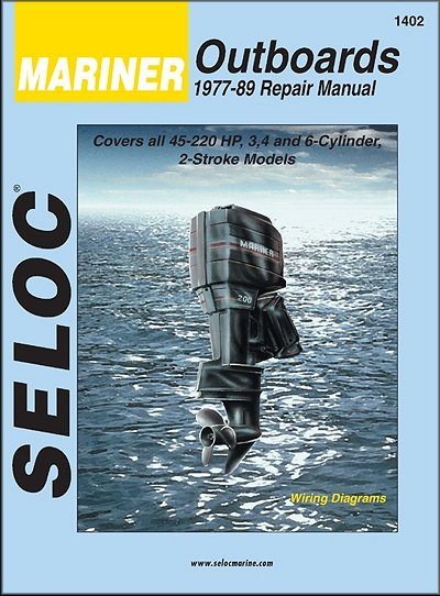 Mariner Outboard 45-220 HP 2-Stroke Repair Manual 1977-1989