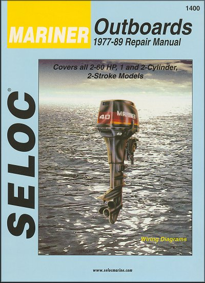 mariner outboard repair manual 2 hp to 60 hp 2 stroke 1977 1989 rh themotorbookstore com mariner 40 hp outboard manual pdf mariner 40 hp outboard parts diagram