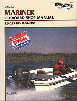 mariner outboard repair manual 2 5 275 hp 1990 1993 clymer. Black Bedroom Furniture Sets. Home Design Ideas