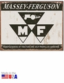 """Massey-Ferguson Tractors and Self-Propelled Combines\"" Tin Sign"