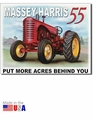 """Massey-Harris 55: Put More Acres Behind You\"" Tin Sign"