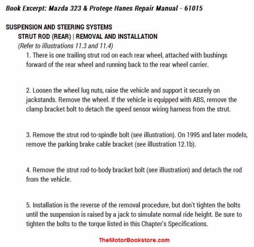 2003 mazda protege haynes manual