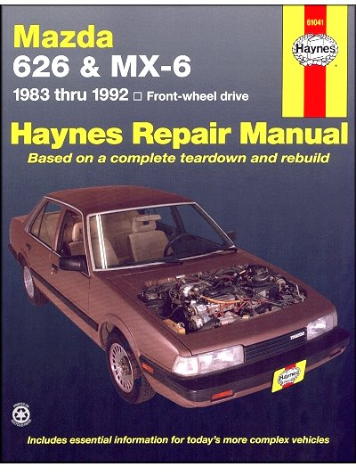 mazda 626 mx 6 fwd repair manual 1983 1992 haynes 61041 rh themotorbookstore com