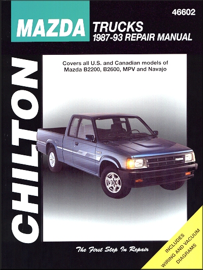 Mazda B2200 B2600 MPV Navajo Repair Manual 1987 1993