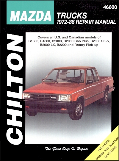 mazda b1600 b1800 b2000 b2000 b2200 repair manual 1972 1986 rh themotorbookstore com 1986 mazda b2000 manual pdf 1986 mazda b2000 service manual