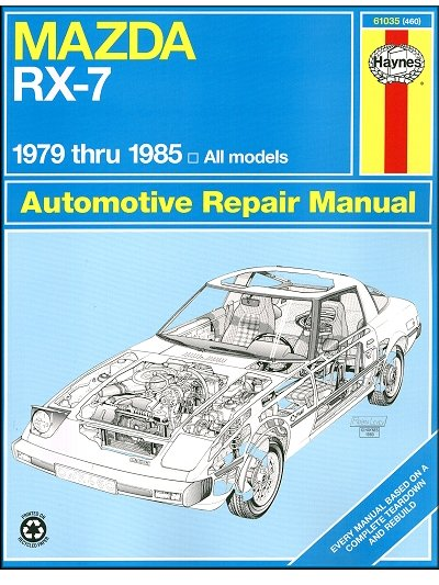 mazda rx 7 repair workshop manual 1979 1985 haynes 61035 rh themotorbookstore com RX-7 Wallpaper Rocket Bunny RX-7