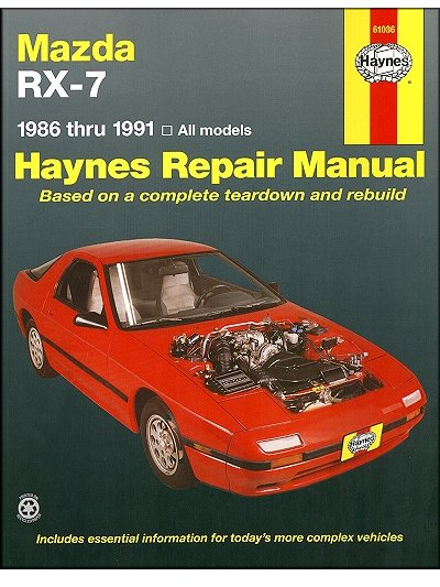 mazda rx 7 rotary repair manual 1986 1991 haynes 61036 rh themotorbookstore com RX-7 Wallpaper Custom RX-7