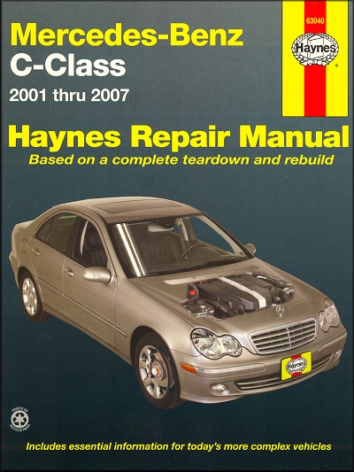 Mercedes Benz C230 C240 C280 C320 C350 Repair Manual 2001 2007