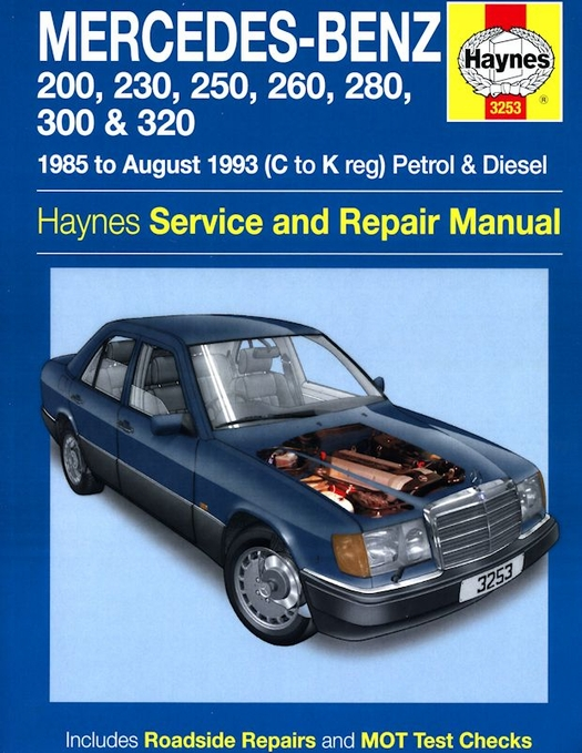 Mercedes benz w124 series repair manual 1985 1993 for Mercedes benz online repair manual