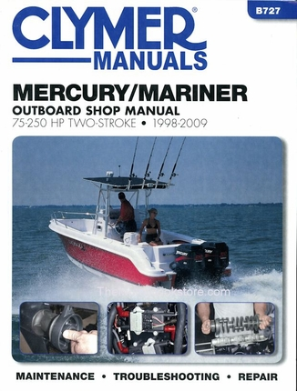Mercury Mariner Repair Manual 75-250 HP 2-Stroke 1998-2009