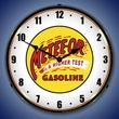Meteeor Gasoline Wall Clock, LED Lighted: Gas / Oil Theme