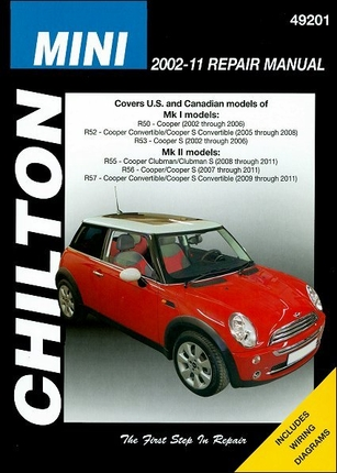 mini cooper mk i mk ii repair manual 2002 2011 chilton. Black Bedroom Furniture Sets. Home Design Ideas