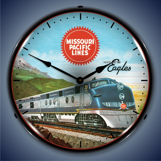 Missouri Pacific Lines Wall Clock, LED Lighted