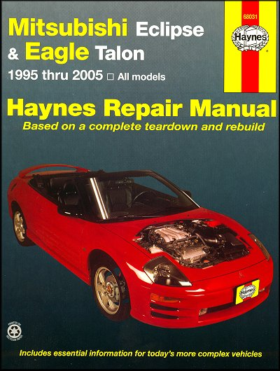 Mitsubishi Eclipse, Eagle Talon Repair Manual 1995-2005
