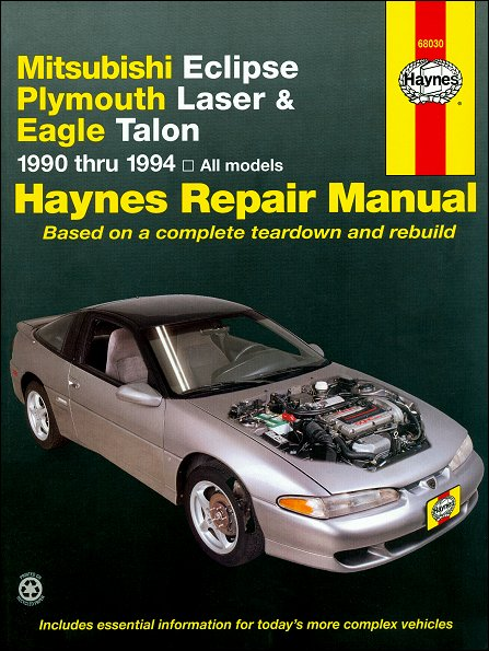mitsubishi eclipse eagle talon plymouth laser repair manual rh themotorbookstore com 1999 Mitsubishi Eclipse 1996 Mitsubishi Eclipse
