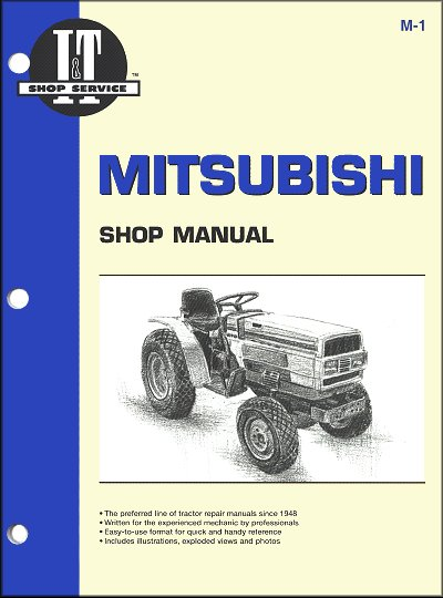 Mitsubishi Tractor Repair Manual Mt160  Mt180  Mt180hd