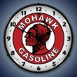 Mohawk Gasoline Wall Clock, LED Lighted: Gas / Oil Theme