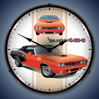 Mopar, AMC, Jeep, Ram, Hemi Cuda Wall Clocks, LED Lighted